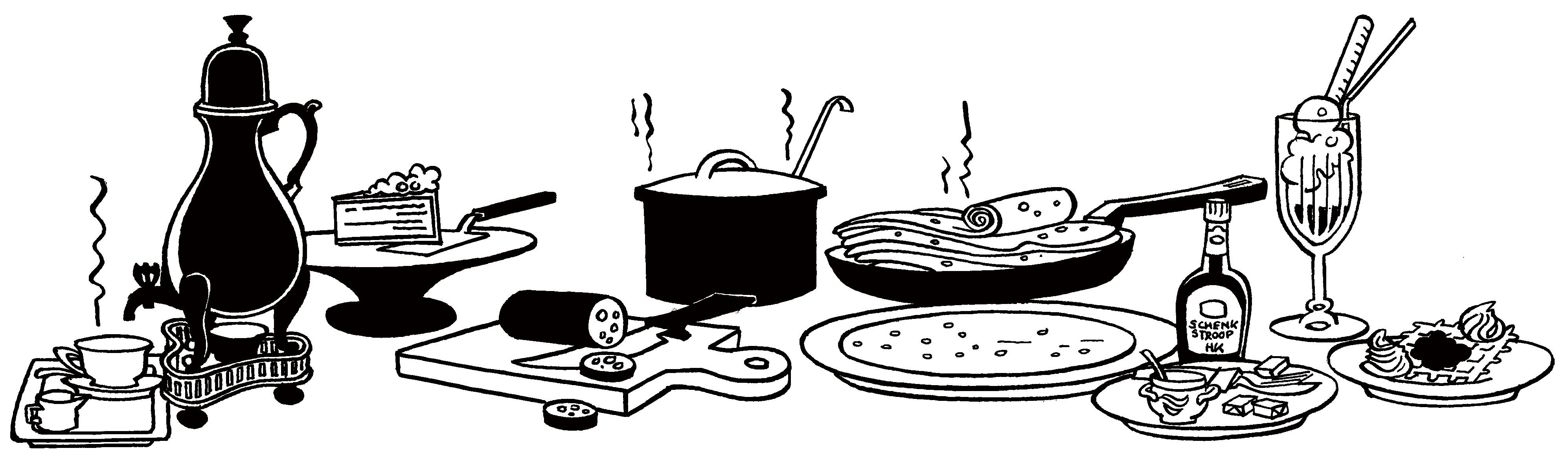 Illustratie van 't Hoes van Hol-An, de lekkerste pannenkoeken